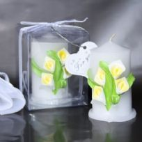 Calla Lily Pillar Candle Favour